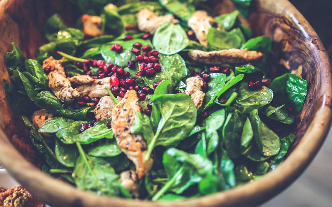 Salade met kip en meloen